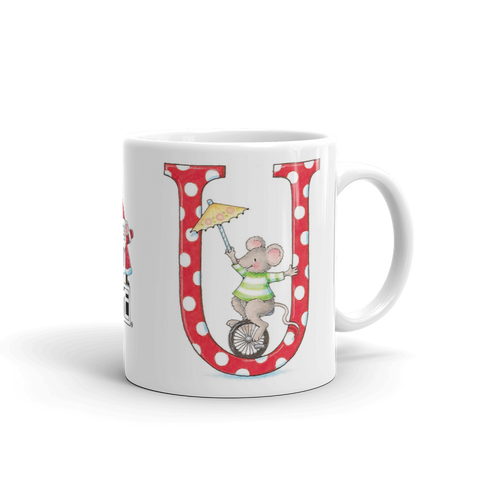 "A Merry Little Christmas ""Letter U"" Mug"