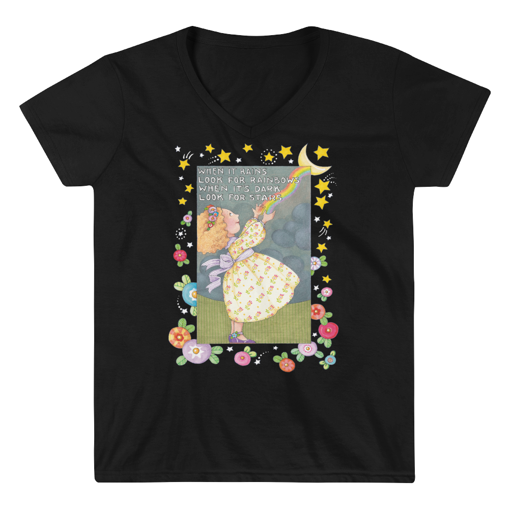 """Looking For Rainbows"" Women's V-Neck Shirt"