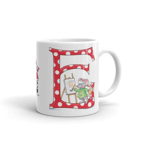 "A Merry Little Christmas ""Letter E"" Mug"