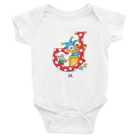 "A Merry Little Christmas ""Letter J"" Infant Bodysuit"