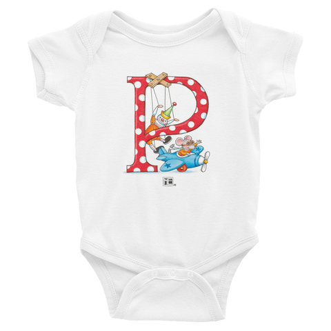 "A Merry Little Christmas ""Letter P"" Infant Bodysuit"