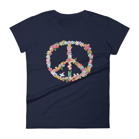 """Floral Peace"" Women's T-shirt"