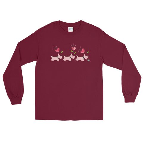 """Pink Scotties"" Long Sleeve Shirt"