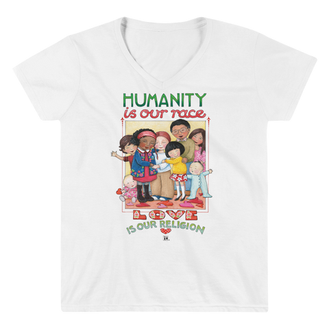 """Humanity"" Women's V-Neck Shirt"