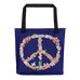 Floral Peace Tote Bag