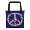 """Floral Peace"" Tote Bag"