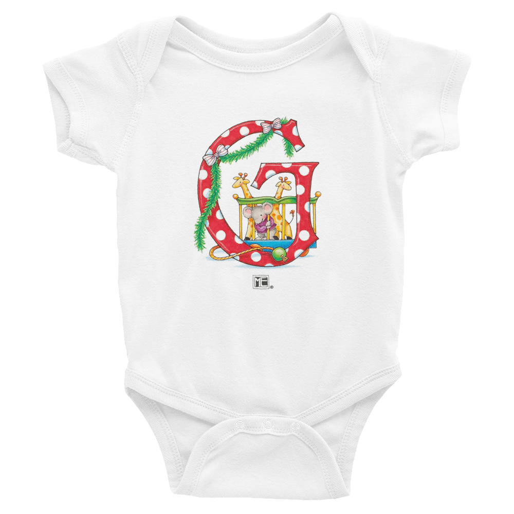 "A Merry Little Christmas ""Letter G"" Infant Bodysuit"
