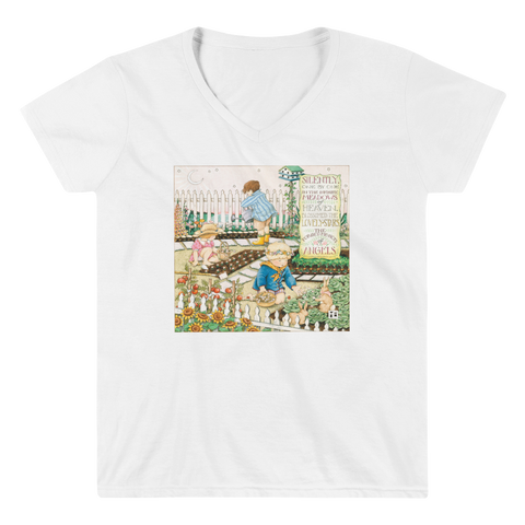 """Forget Me Not of Angels"" Women's V-Neck Shirt"