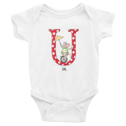 "A Merry Little Christmas ""Letter U"" Infant Bodysuit"