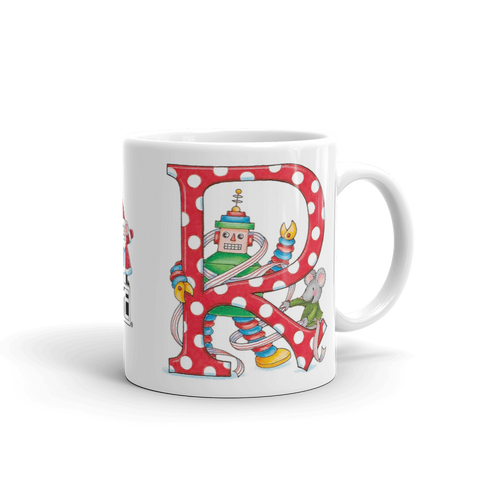 "A Merry Little Christmas ""Letter R"" Mug"