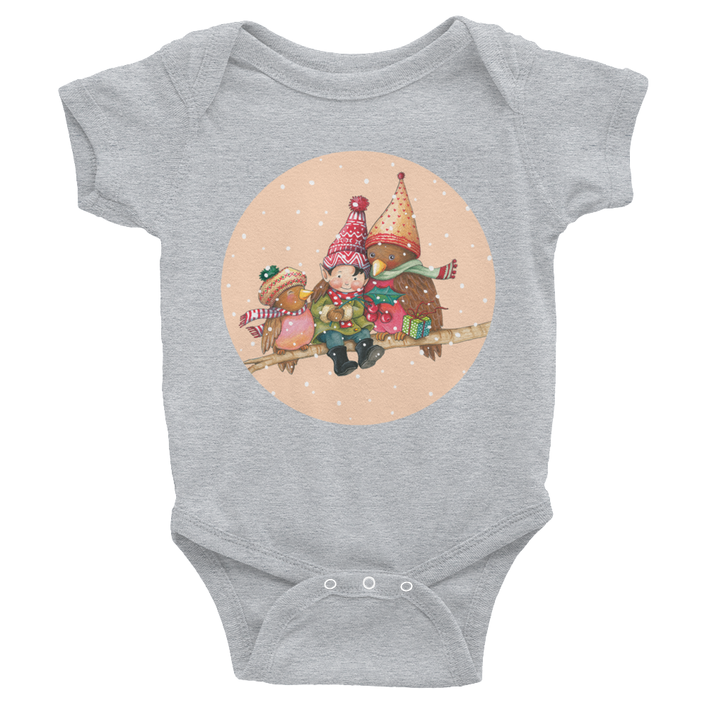 """Christmas Cuddles"" Infant Bodysuit"