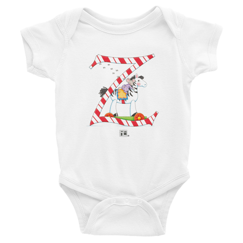"A Merry Little Christmas ""Letter Z"" Infant Bodysuit"