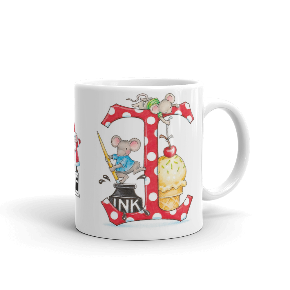 "A Merry Little Christmas ""Letter I"" Mug"