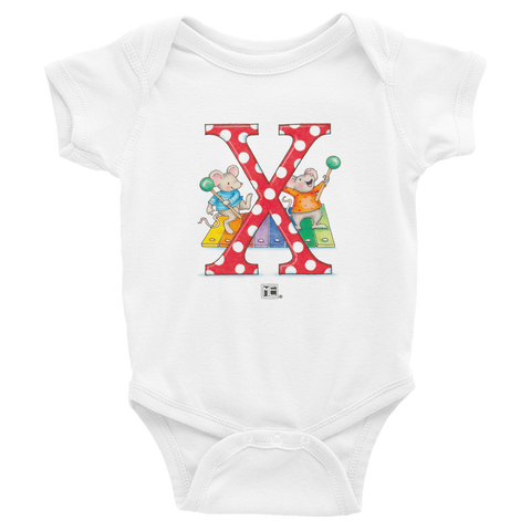 "A Merry Little Christmas ""Letter X"" Infant Bodysuit"
