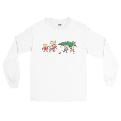 """Bringing Home the Tree"" Long Sleeve Shirt"