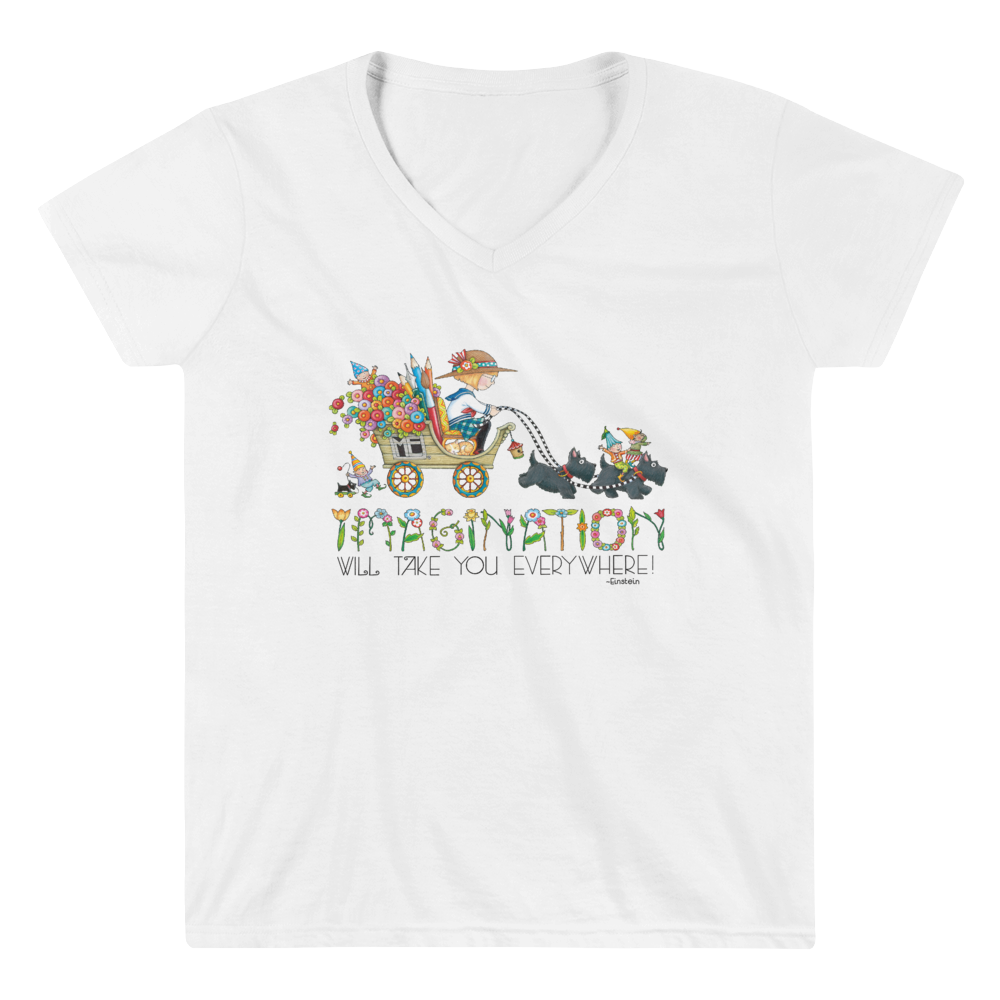 """Journey of Imagination"" Women's V-Neck Shirt"