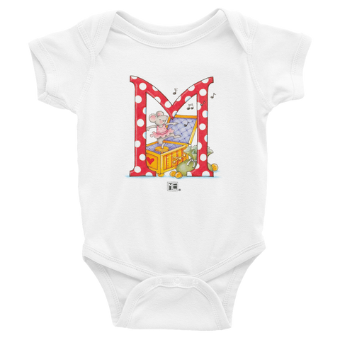 "A Merry Little Christmas ""Letter M"" Infant Bodysuit"