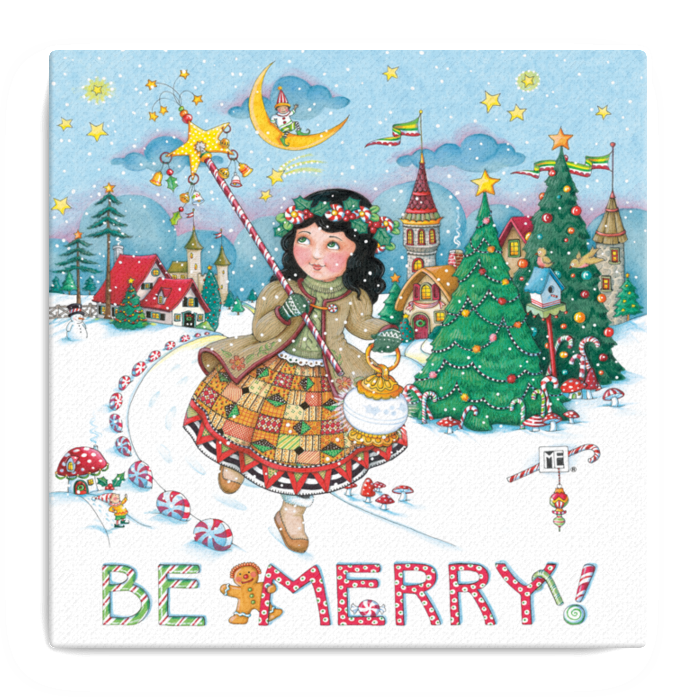 """Be Merry"" Canvas"