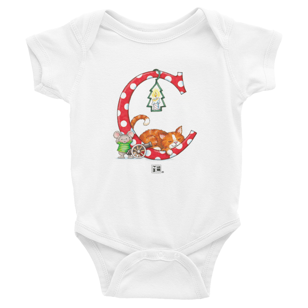 "A Merry Little Christmas ""Letter C"" Infant Bodysuit"