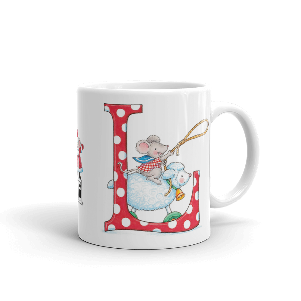 "A Merry Little Christmas ""Letter L"" Mug"