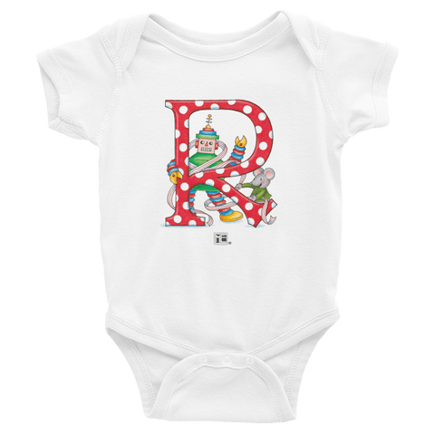 "A Merry Little Christmas ""Letter R"" Infant Bodysuit"