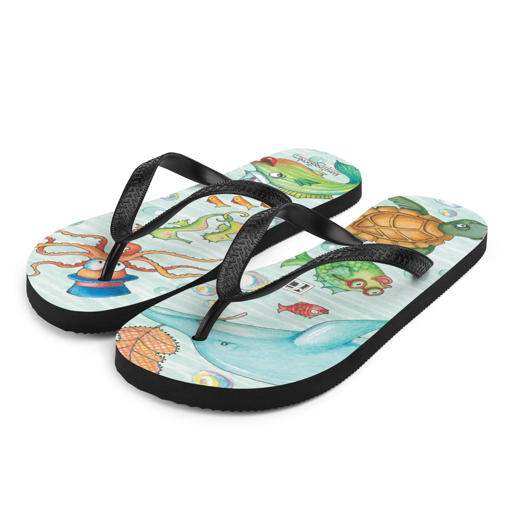 Just Keep Swimming Flip-Flops