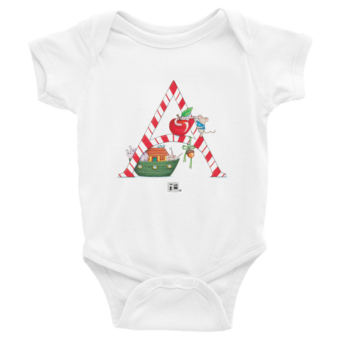 "A Merry Little Christmas ""Letter A"" Infant Bodysuit"