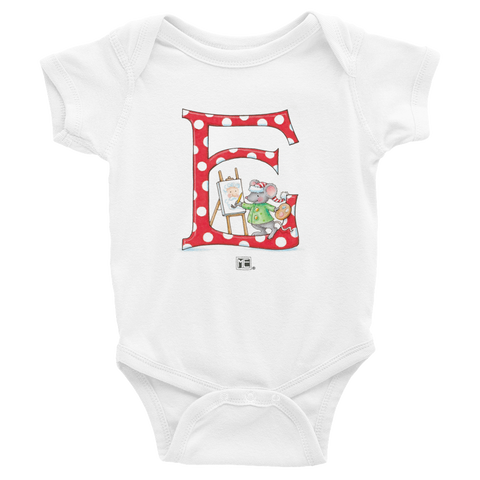 "A Merry Little Christmas ""Letter E"" Infant Bodysuit"