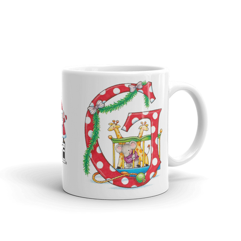 "A Merry Little Christmas ""Letter G"" Mug"