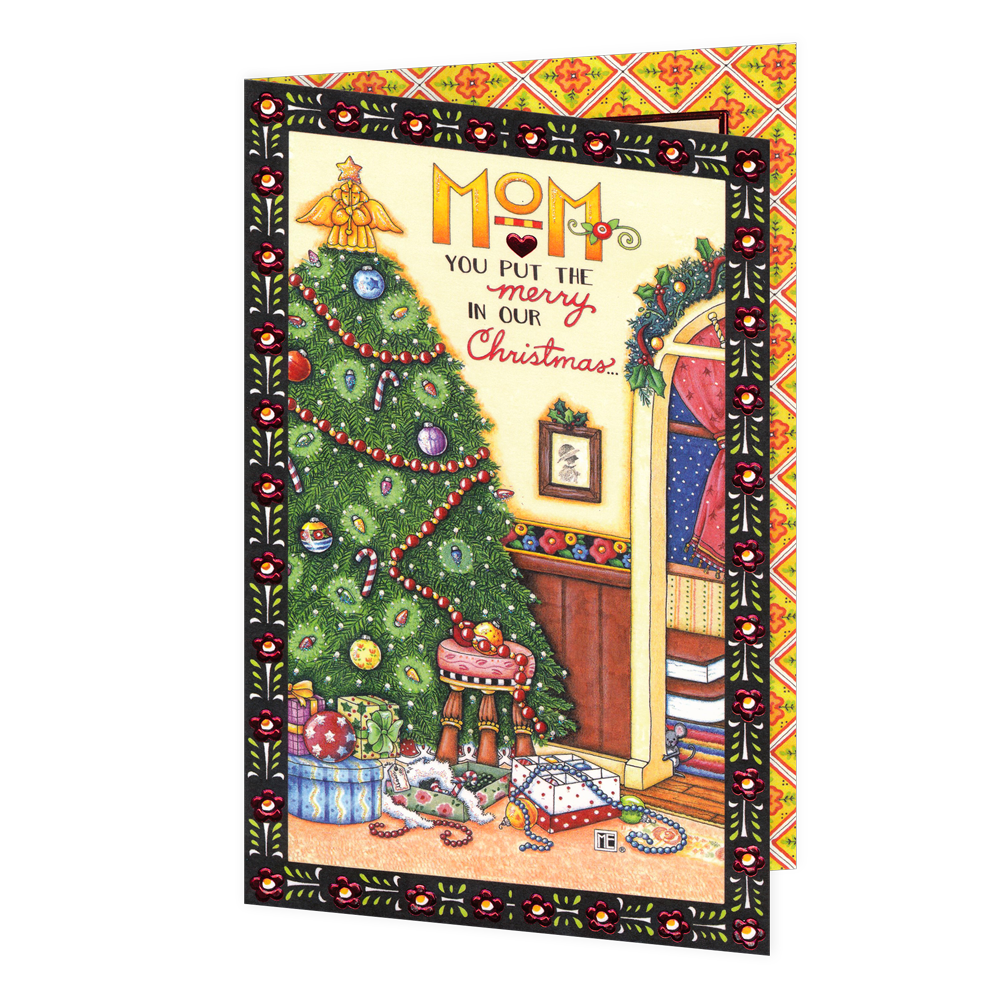 Christmas Greeting Images.Mom You Put The Merry In Christmas Greeting Card Mary Engelbreit