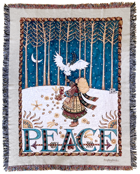 Peace Dove Woven Blanket