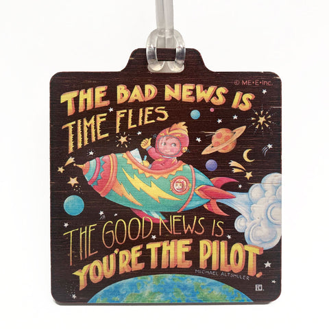Rocket Pilot Bag Tag