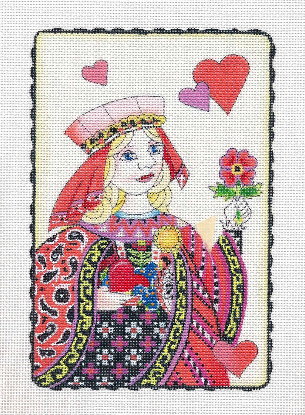 Needlepoint Canvas: Queen of My Heart