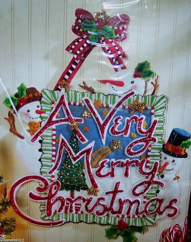 A Very Merry Christmas Applique Wall Hanging Kit