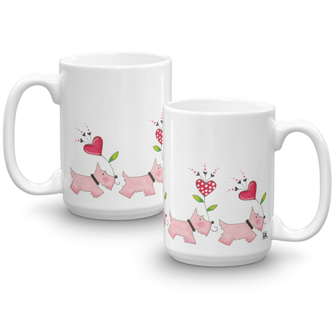 """Pink Scotties"" Mug"