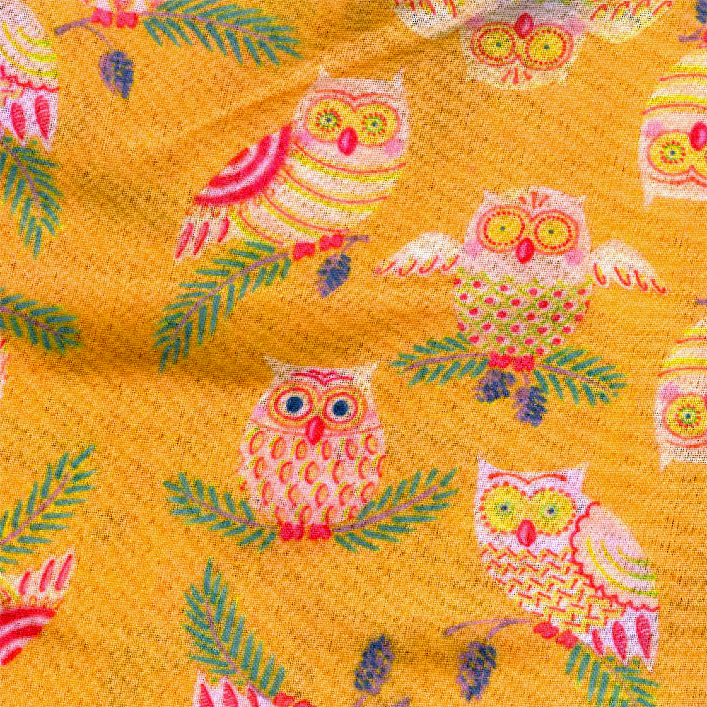Table Linen Owls