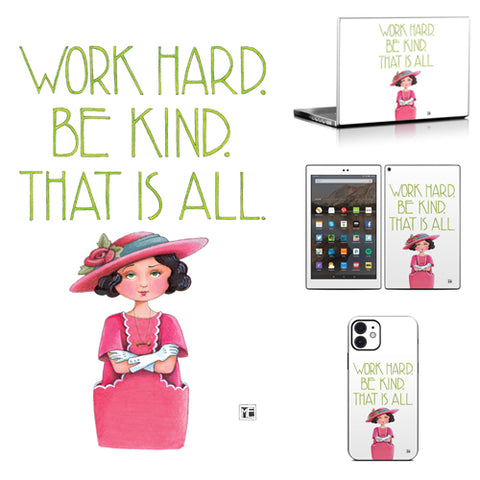 Phone or Tablet Case/Skin: Work Hard