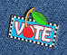 Vote Enamel Art Pin