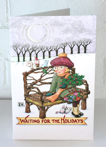 Waiting for the Holidays Christmas Card