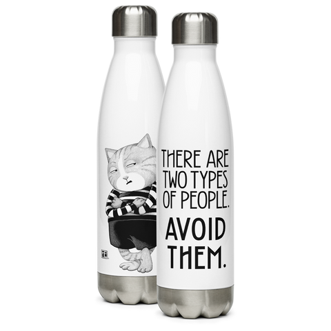 """Avoid Them"" Stainless Steel Water Bottle"