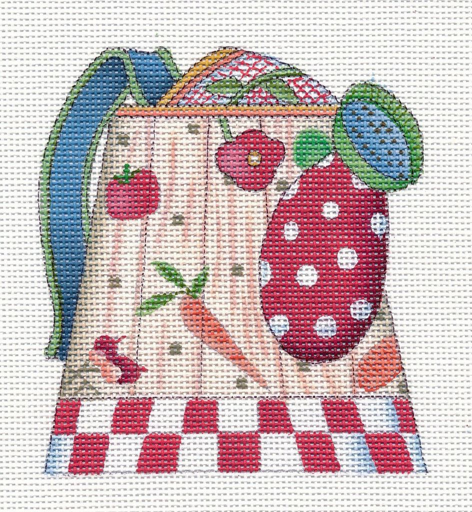 Needlepoint Canvas: Veggies Watering Can