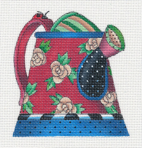 Needlepoint Canvas: Bloom Watering Can