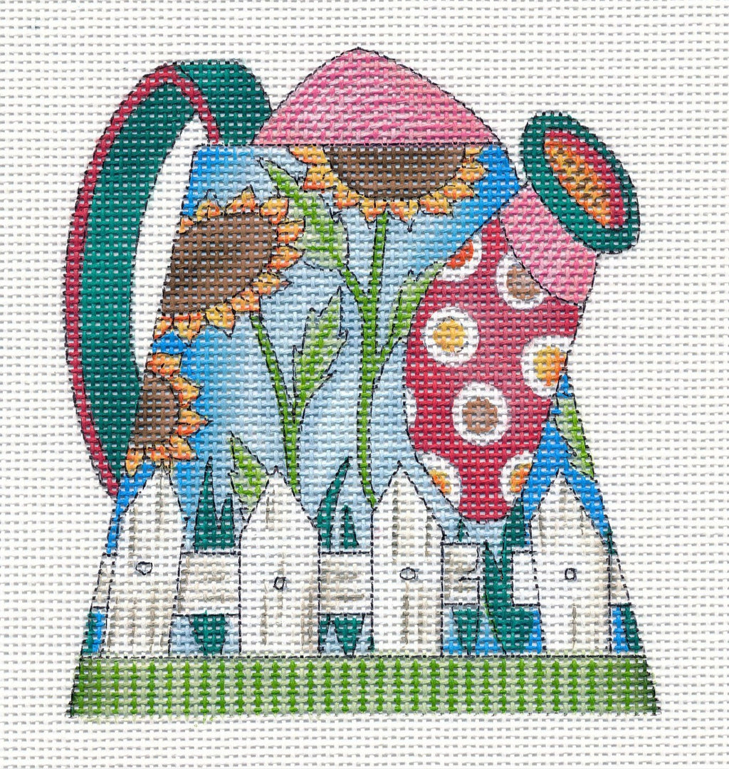Needlepoint Canvas: Sunflower Watering Can