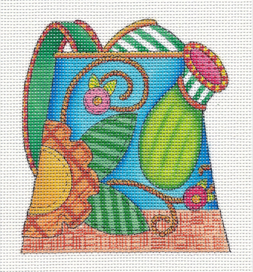 Needlepoint Canvas: Daisy Stitch Watering Can