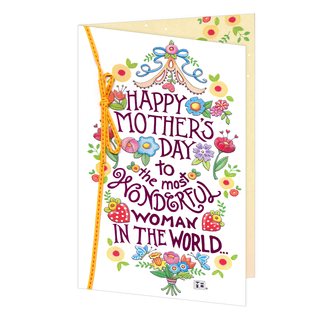Most Wonderful Woman Mother's Day Card