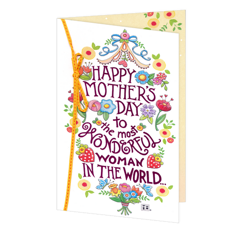 Most Wonderful Woman Mother's Day Card-NLA