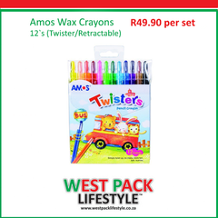 Retractable Wax Crayons on special at West Pack Lifestyle until 31 October 2017