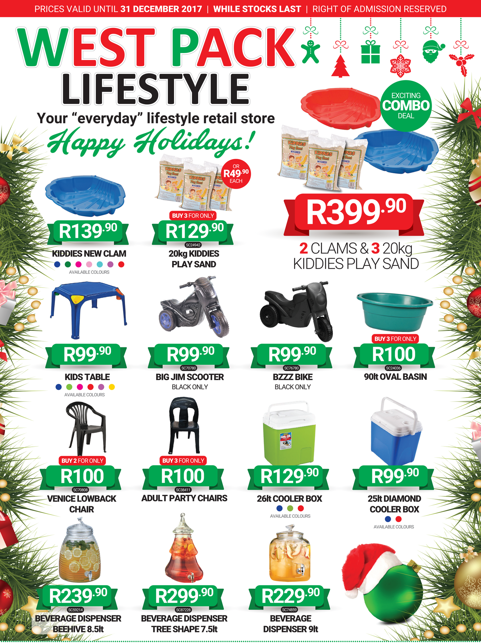 West Pack Lifestyle Christmas Specials