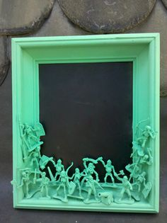 DIY frame using toy soldier figurines
