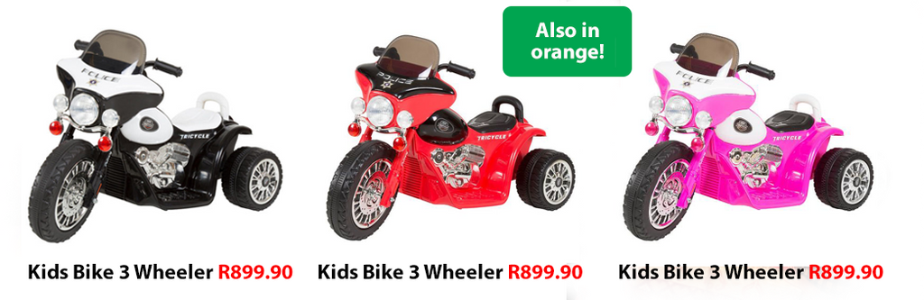 Kids Bike 3 Wheeler in assorted colours from West Pack Lifestyle